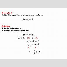 New Tutorials Linear Equations In Standard Form  Media4math's Blog