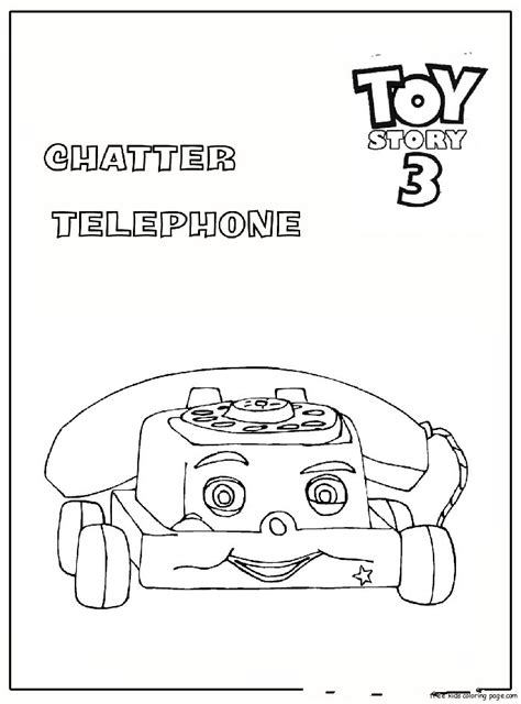 chatter telephone toy story  coloring pagesfree printable
