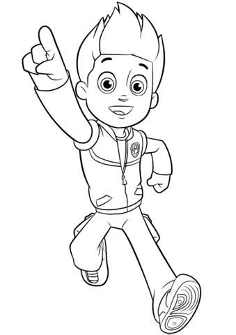 dibujo de paw patrol ryder  colorear dibujos  colorear imprimir gratis