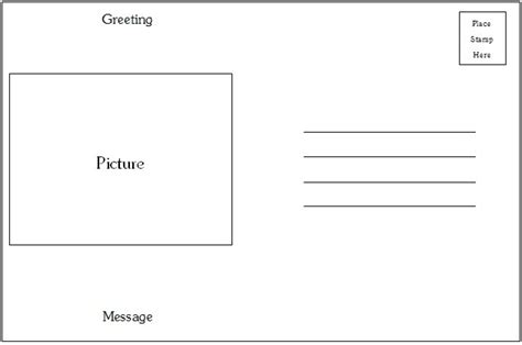 Postcards Templates For Word by Postcard Template Category Page 1 Efoza