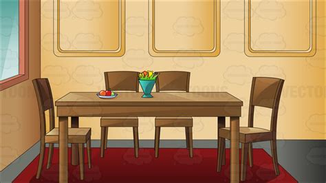 teal dining chairs traditional household dining room clipart vector