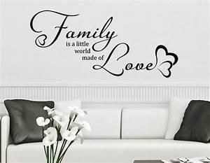 Wandtattoo Sprüche Familie : wandtattoo family is a little world made of love wandtattoo de ~ Frokenaadalensverden.com Haus und Dekorationen