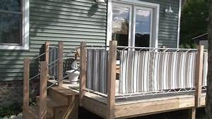 Fabric Panels Installed On Deck Rails