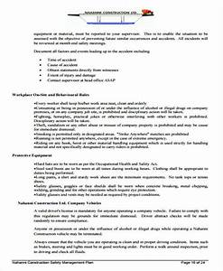 safety management plan template free 28 images safety With free construction safety plan template