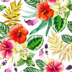 Vector illustration with watercolor flowers. Beautiful ...