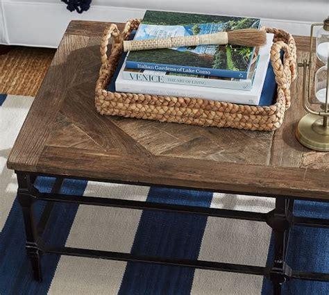 "Parquet 84 reclaimed wood console table $ 1,899. Parquet 54"" Rectangular Reclaimed Wood Coffee Table   Pottery Barn"