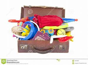 Open Suitcase Full Of Summer Vacation Stock Images - Image ...