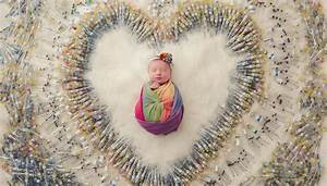 Baby photographed with all the IVF needles used to conceive her   Newshub