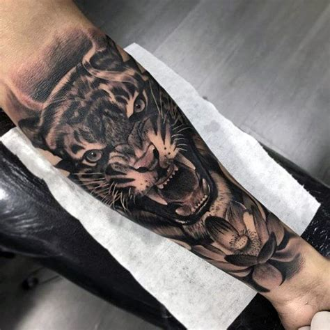 tiger mens  sleeve forearm tattoos tattoos