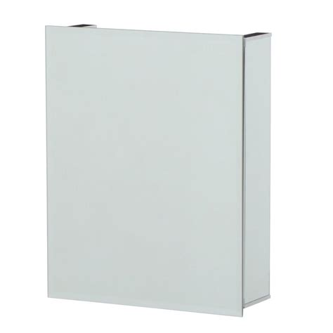 croydex 16 in w x 20 in h frameless aluminum recessed or surface mount bathroom medicine