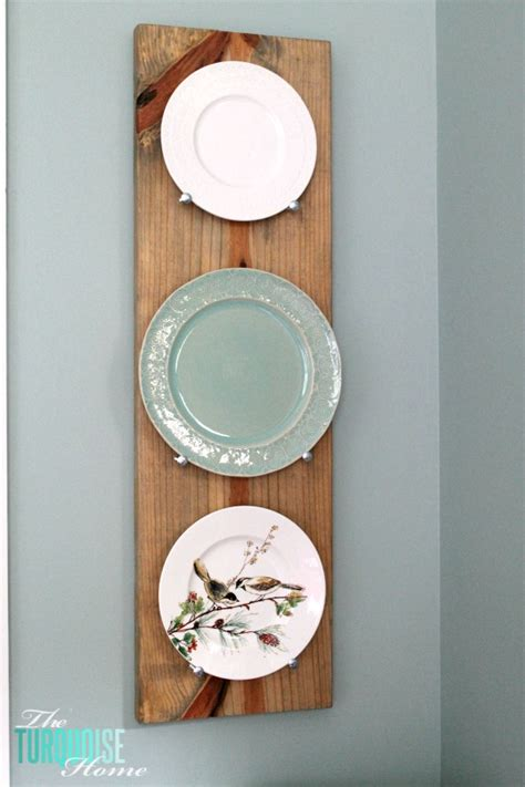 diy industrial plate rack  turquoise home