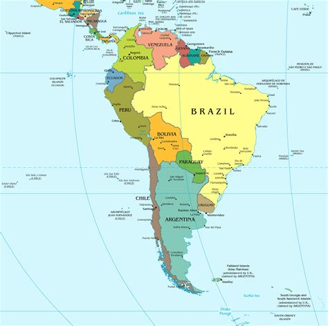 south america political map south america mapsland