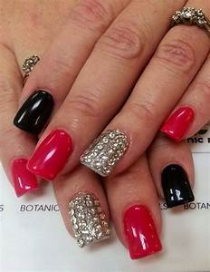 Black silver red nails | Unique Nails | Pinterest | Sexy Reunions and Creative