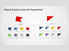 Flag Map Marker Shape Set for PowerPoint SlideModel