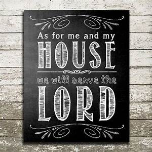 bible verse wall art as for me and my house we by With as for me and my house wall art