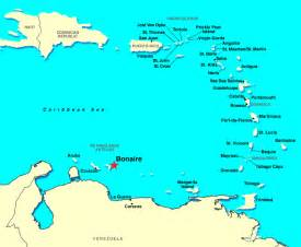 Southern Caribbean Islands Map