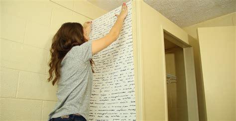 dorm takeover   apply removable wallpaper dorm room crafts dorm room walls bedroom decor