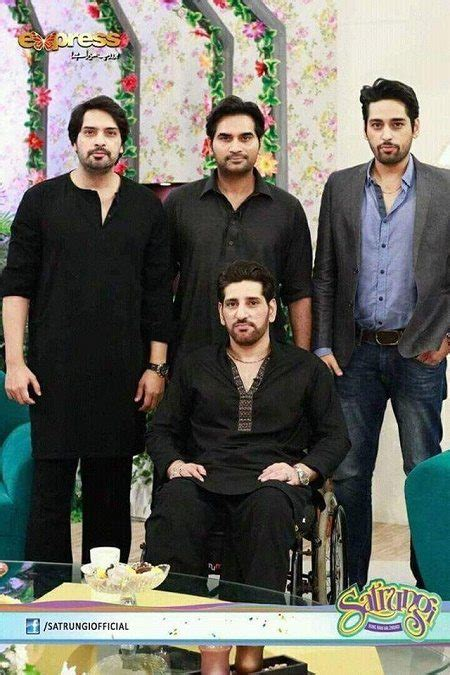 First Time Humayun Saeed With His 4 Brothers In Morning Show Pakistani Drama Celebrities