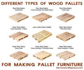 here are the different types of pallets to make pallet
