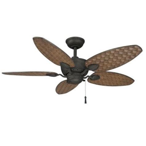 48 outdoor ceiling fan hton bay largo 48 in gilded iron outdoor ceiling fan