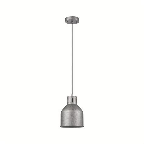 stainless steel kitchen pendant light globe electric bronn 1 light galvanized pendant 65422 8259