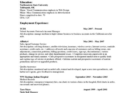 resume template insurance sales financial sales