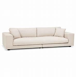 Grand Canapé Droit : grand canap droit dalton xxl en tissu beige canap design ~ Teatrodelosmanantiales.com Idées de Décoration