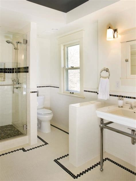 classic black and white bathroom housemaniaczka blog o pięknych wnętrzach tylko płytki quot metro quot