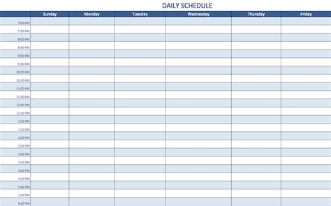daily planner template excel free excel schedule templates for schedule makers