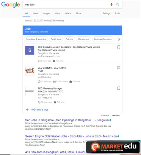 seo in bangalore seo opportunities in bangalore emarket education