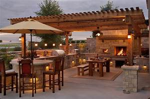 Rustic Patio With Exterior Stone Floors By Maverick