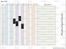 Menstrual Cycle Calendar Tracker Printable PDF by tidymighty
