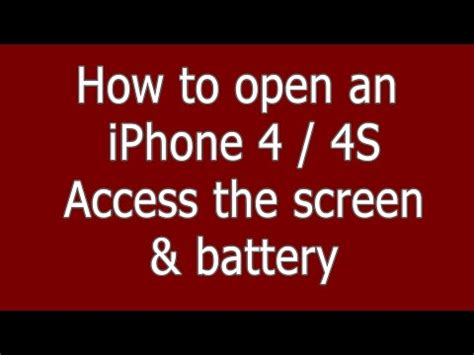 how to open an iphone 4 how to open an iphone 4 4s pentalobe for screen