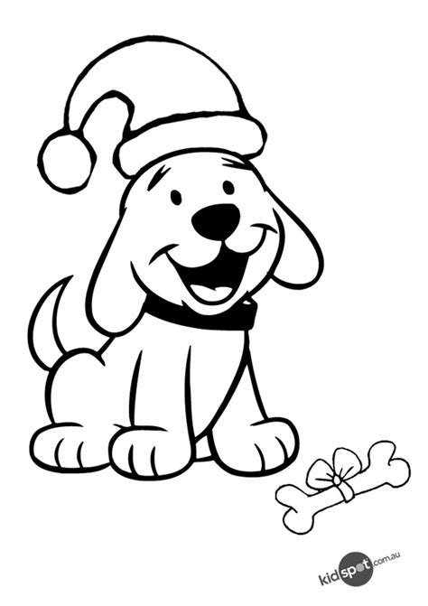 Free coloring pages of christmas dog