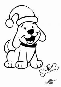 gudu ngiseng blog: coloring pages christmas puppy