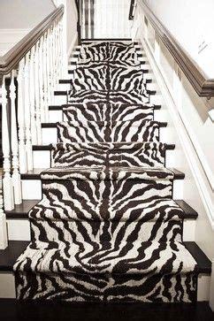 zebra stair runner interior design living room stairs