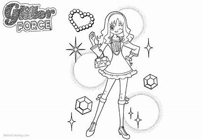 Coloring Glitter Force Pages Smile Precure Printable