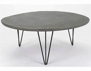 Table Ronde Grise : table basse ronde grise ~ Teatrodelosmanantiales.com Idées de Décoration
