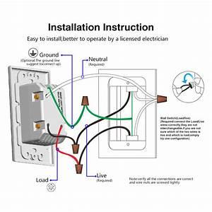 Wifi Smart Light Switch Us Plug Neutral   Live Wire