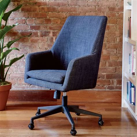 helvetica high back upholstered office chair west elm