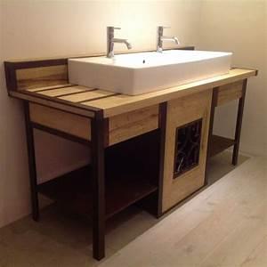 Meuble En Fer : meuble salle de bain fer forge ~ Melissatoandfro.com Idées de Décoration