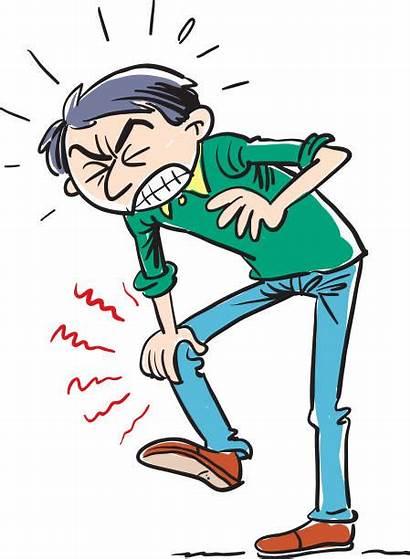Pain Knee Injury Cartoon Arthritis Vector Clip