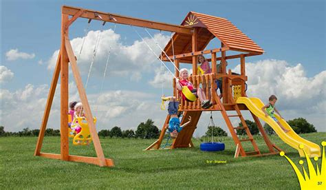 Vinyl & Wooden Swingsets  Amish Playsets Nj