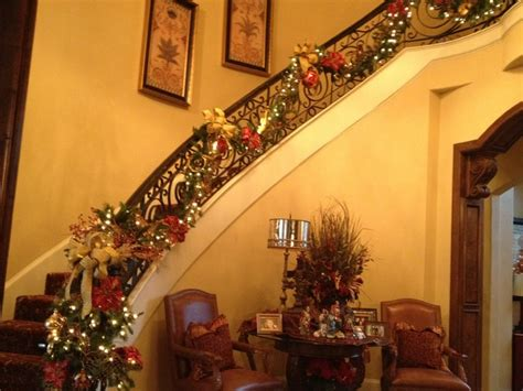 christmas decorating traditional staircase dallas