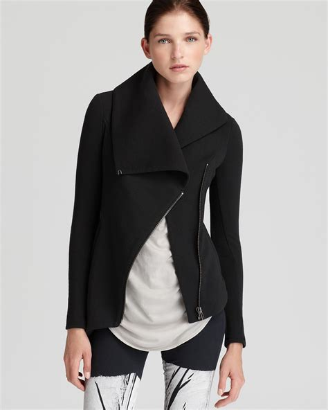 Helmut Lang Draped Jacket - helmut helmut lang jacket soft sweatshirt zip up