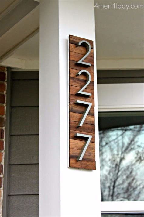 creative ways  display  house number  diy