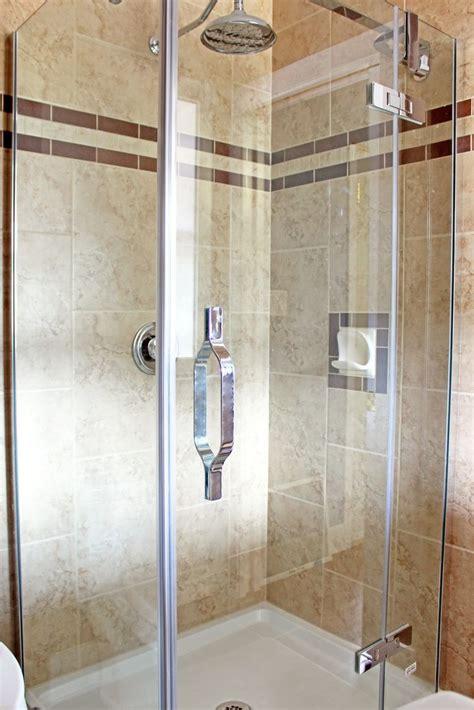new shower stall tiled floor to ceiling bathroom ideas