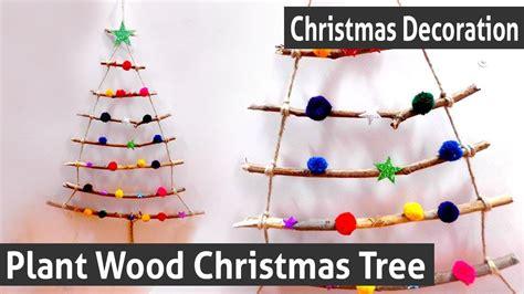 diy christmas decoration      plant wood