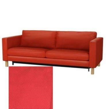 ikea karlstad sofa bed sofabed slipcover cover korndal red
