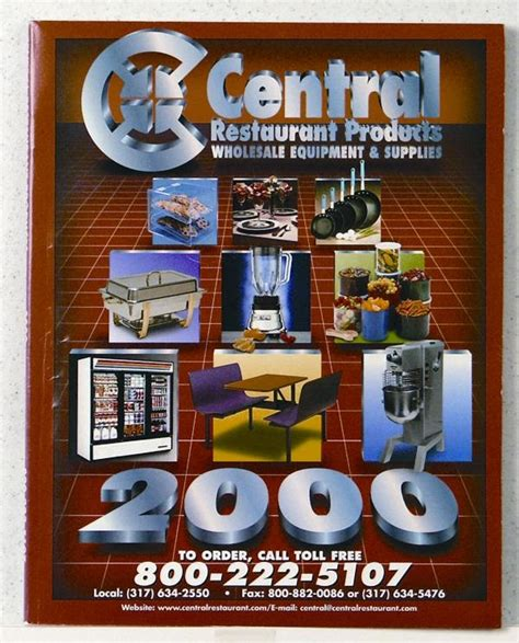 central restaurant products 2000 catalog central